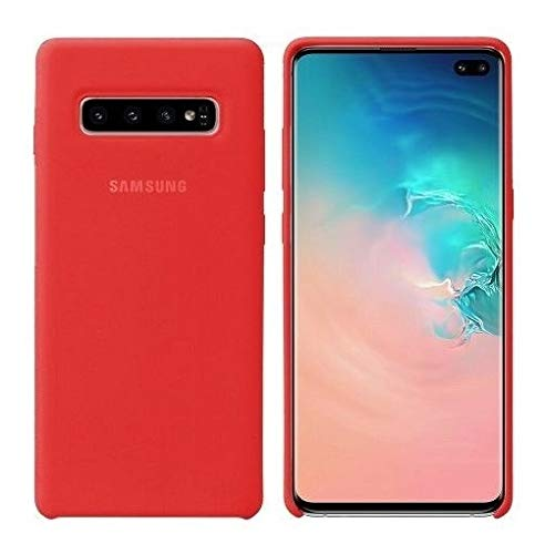 Case Capa Silicone Aveludada Samsung Galaxy S10+ Plus Vermelha