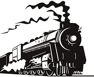 steam train wall mural