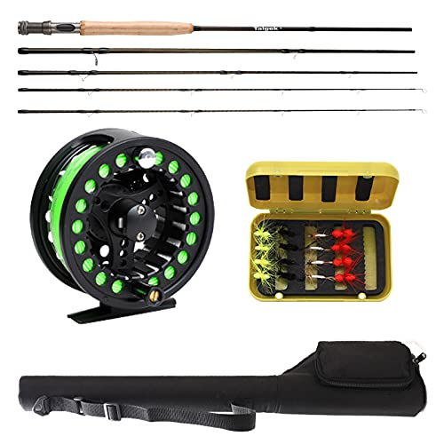 Taigek 2.4m Fly Fishing Rod and Reel Combo