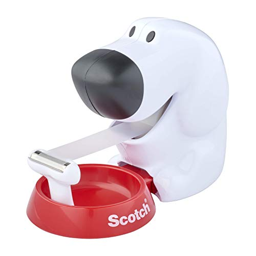 Scotch - Dispensador cinta con diseño de perro (incluye cinta adhesiv
