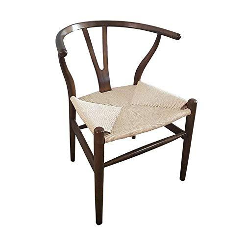 Sedia Da Pranzo Sedia In Legno Di Frassino Resistente Alle Intemperie Sedile In PU Tessuto Stile Tessuto Intrecciato Wishbone,B