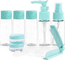 Zestaw 11 butelek podróżnych, pusta butelka podróżna do wielokrotnego napełniania, przezroczysta butelka na kosmetyki,...