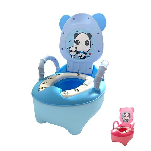 Vater para Niños y Niñas, Orinal Infantil o Inodoro para Entrenamiento de Pote bebe 18 meses, Bacinilla con Forma de Animal (Azul)
