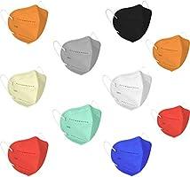 LIONCROWN Cotton Reuseable Face Mask (Multicolor, Without Valve, Pack of 10) for Men & Women