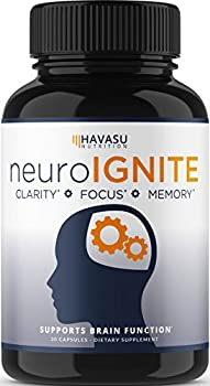 Havasu Nutrition Extra Strength Brain Supplement for Focus Energy Memory and Clarity Mental Performance Nootropic with St John's Wort for Brain Support