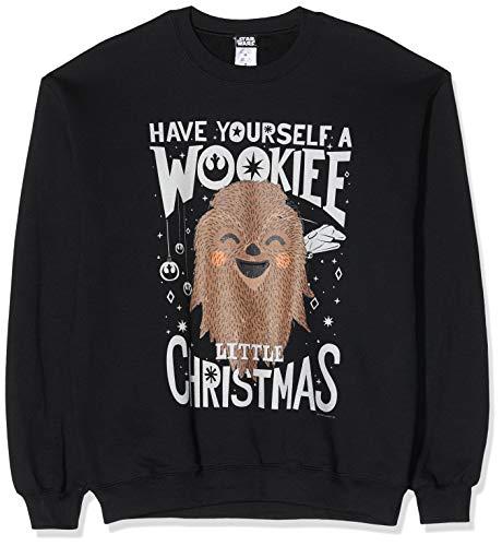 Star Wars Men's Wookie Christmas Sweatshirt Sudadera para Hombre