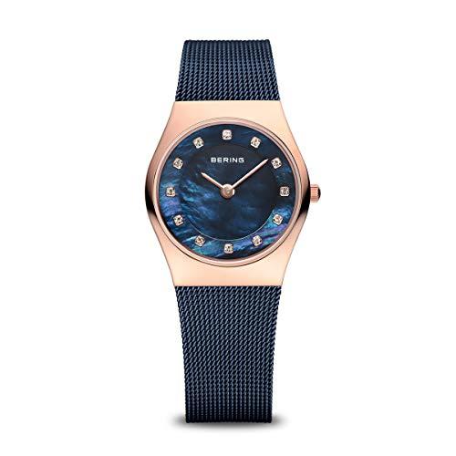 BERING Damen Analog Quarz Classic Collection Armbanduhr mit Edelstahl Armband und Saphirglas 11927-367