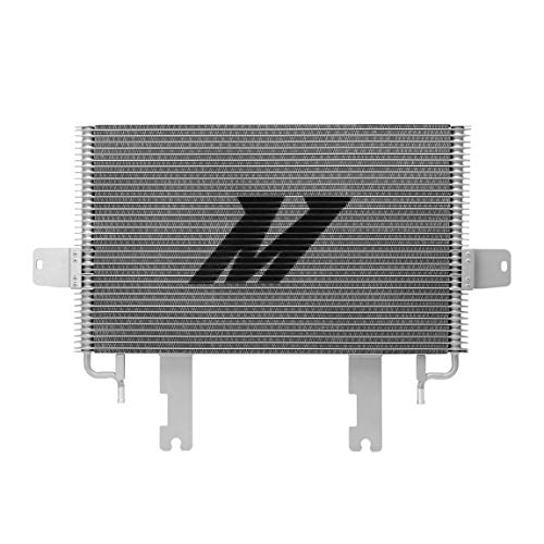Mishimoto MMTC-F2D-03SL Transmission Cooler Compatible With Ford 6.0 Powerstroke 2003-2007 Silver