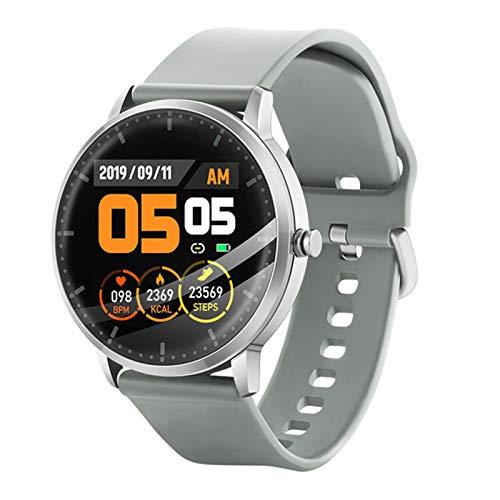 ZYY Redondo Redondo Reloj Inteligente T9, Ejercicio Monitor de Ritmo cardíaco Fitness Tracker Call Bluetooth Música Control de Color Pantalla de Color SmartWatchPK V66,C