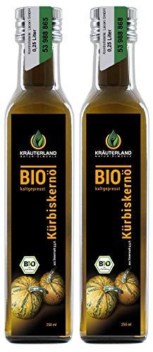 Kräuterland BIO Kürbiskernöl aus der Steiermark g.g.A., 500ml, Bio-zertifiziert, kaltgepresst,...