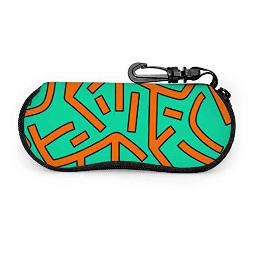 HHJJI Trend Mode Hip-Hop Street Graffiti Kleinkind Sonnenbrillenetui Einzigartiges Brillenetui Licht Tragbares Neopren-Reißverschluss Soft Case Etui für Brillen