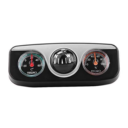Heaveant Bussole di Navigazione per Montaggio su cruscotto, 3 in 1 per Auto, Montaggio su cruscotto, direzione di Navigazione, Bussola, termometro, igrometro