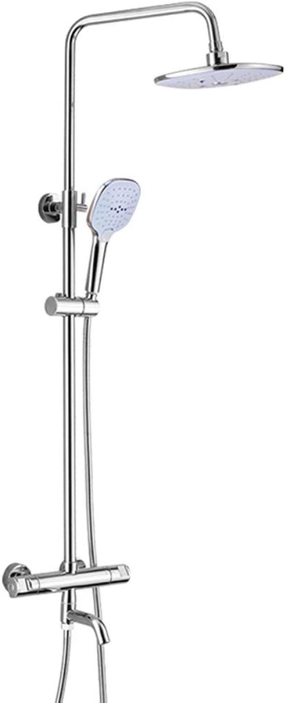 XSGDMN Badezimmerdusche-Mixer-Set, Duschsystem mit intelligenter konstanter Temperatur, DREI Wassermodi, Handdusche und Tub Spout Faucet