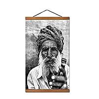 30x45cm白黒ポートレート高齢者紳士ポスタープリントストックホルム風景壁写真キャンバスプリント装飾