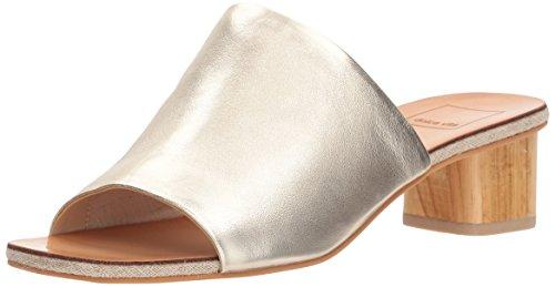 Dolce Vita Women's Kaira Slide Sandal, Gold Leather, 8.5 M US