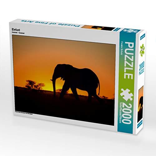 CALVENDO Puzzle Elefant 2000 Teile Lege-Größe 90 x 67 cm Foto-Puzzle Bild von Frauke Scholz