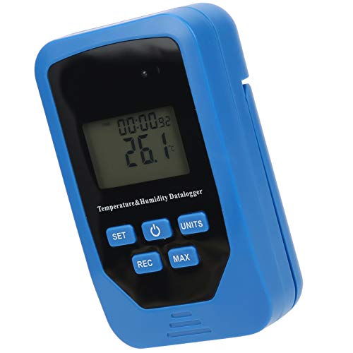 Registrador de humedad, termómetro digital multifuncional, registrador de temperatura y humedad portátil, registrador de datos de humedad, profesional para laboratorio industrial