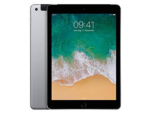 Apple iPad 9.7 inches 2017 128GB 4G - Space Grey - Unlocked (Renewed)