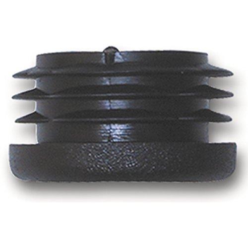 SECOTEC Fußkappe für Rohr ø 22 mm | schwarz | Kunststoff Stopfen | Endkappe | Endstopfen | 4 Stück