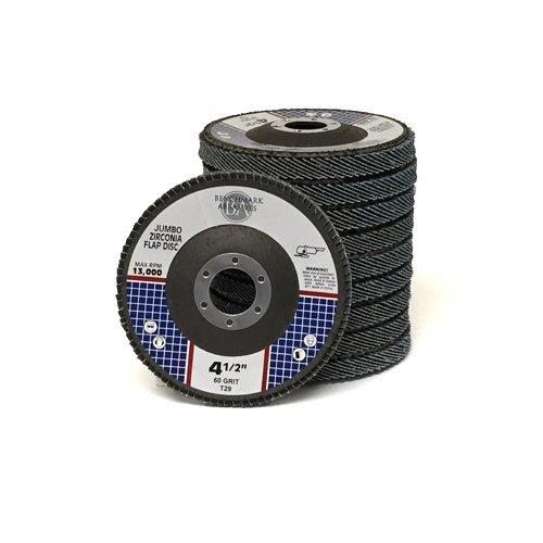 4.5x7/8 Jumbo Zirc Flap Disc Grinding Wheel 60 Grit - 50 Pack