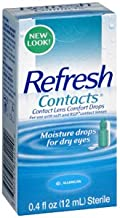 Allergan Refresh Soft Contacts, Contact Lens Comfort Drops - 0.4 Fl Oz (12 Ml) (Pack of 5)