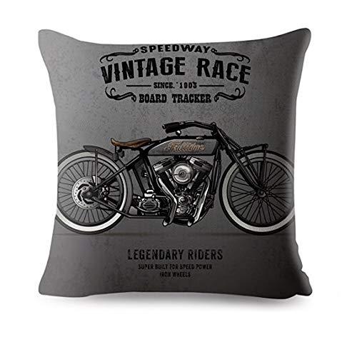 KUSTOM Factory - Cojín vintage con texto en inglés Legendary Bikers gris