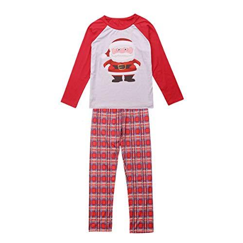 Christmas Family Matching Santa Pajamas Set Men Women Toddler Kids Baby Boy Girl Sleepwear Nightwear Clothes Outfits (Red, Men(Dad) XXXL)