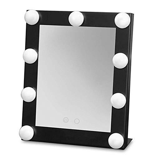 Xnrong Tragbare Schminkspiegel LED Beleuchtung Spiegel Licht Lampe Beleuchtung Make-up-Modellierung Beleuchtung Tools Desktop Spiegel, Schwarz