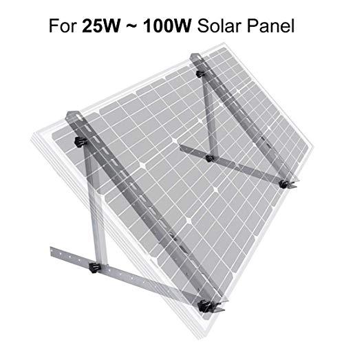 """ECO-WORTHY 22\""""verstellbare Solarpanel-Neigungshalterungen für Boote, Wohnmobile, Dach-Off-Grid-System (22-Zoll-Länge)"""