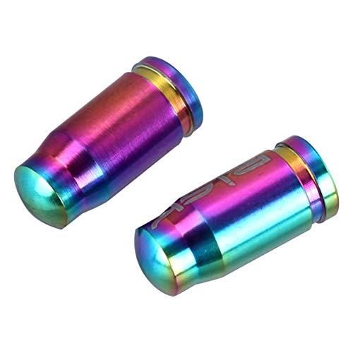 BESPORTBLE 2 Stück Reifenschaft Ventilkappen Reifenventil Staubkappen für Fahrrad Fahrrad Auto Motorrad LKW (Bunt)