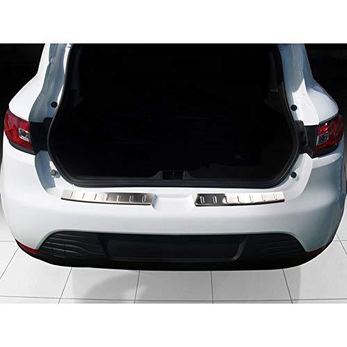 Avisa Protection de seuil arrière inox compatible avec Renault Clio IV 5-portes 2013- 'Ribs'