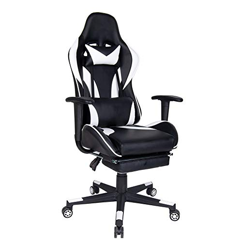 Polar Aurora Gaming Chair Racing Style High-Back PU Leather Office Chair...