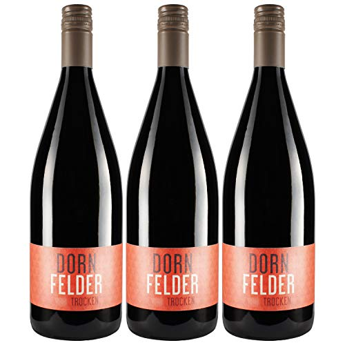 """Nehrbaß - """"Dornfelder 2018"""" - Rotwein trocken 3 x á 1 Liter - Qualitätswein - Vegan - Aus Deutschland (Rheinhessen) - mit Schraubverschluss"""