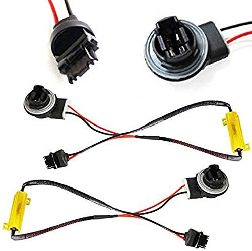 iJDMTOY (2) Hyper Flash Fix Error Free Wiring Adapters Compatible With 3156 3056...