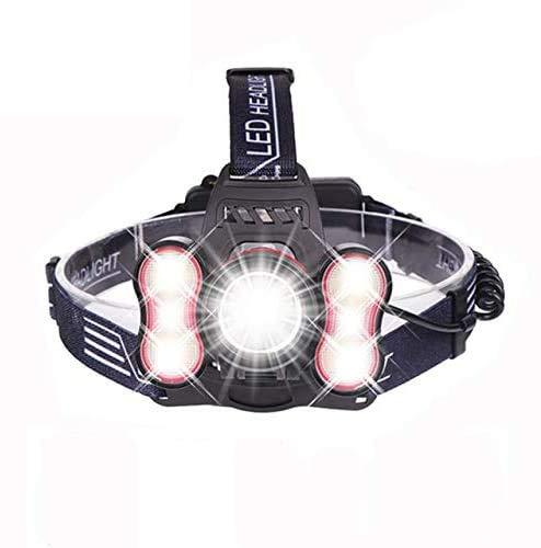AJH Linterna Frontal Potente 30000 lúmenes Linterna Frontal súper Brillante con función de detección de luz Faros Delanteros con batería Luz Recargable por USB Nuevo Funciona