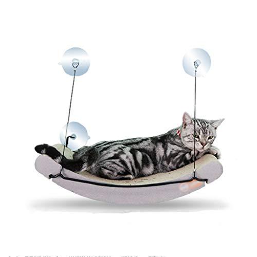Kattenraam hangmat, vensterbank hangmat kat nest huisdier hangmat kas inktvis kussen met 4 zuignappen om ruimte te besparen, geschikt voor elke beglazing of deur A