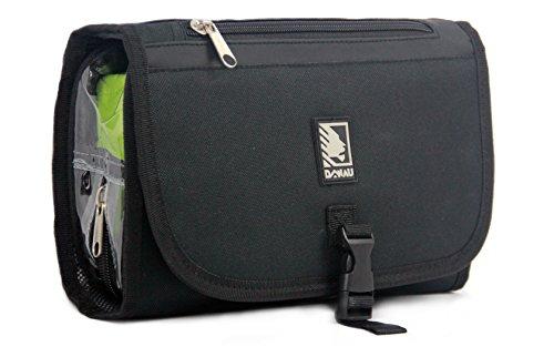 Kulturbeutel   Kulturtasche   Waschbeutel   Kosmetiktasche für Damen und Herren zum Aufhängen mit Abnehmbarer, wiederverschließbarer, transparenter Flüssigkeiten-Tasche für das Handgepäck auf Reisen