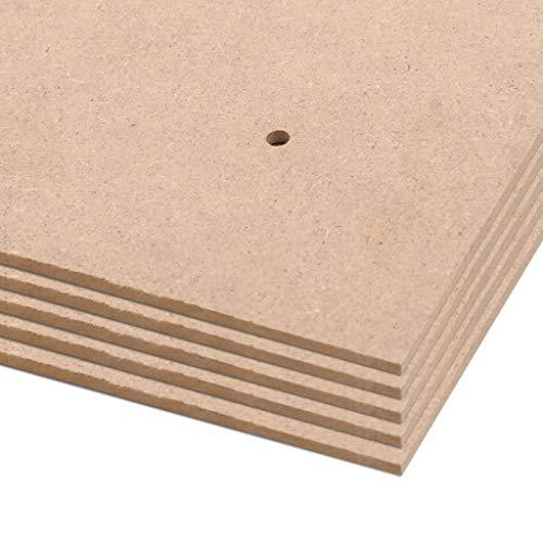 Tidyard 0 STK. Plakatwände DIN A1 Größe HDF 841x594x3 mm MDF-Platten für die Herstellung von Flugzeugmodellen oder Anderen Heimwerken geeignet