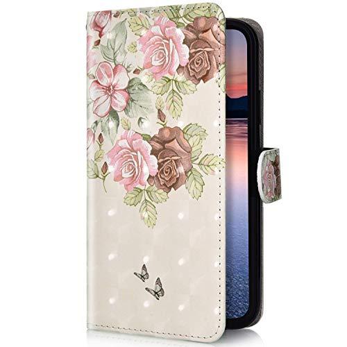 Uposao Compatibile con Xiaomi Mi A2 Lite Cover in Pelle PU con Portafoglio Motivo a Effetto 3D...