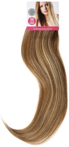Love Hair Extensions - LHE/A1/QFC/120G/10PCS/18/10/22 - 100 % Cheveux Naturels Lisses et Soyeux - 10 Pièces Clippants en Extensions - Couleur 10/22 - Blond Cendre Moyen / Blond Plage - 46 cm