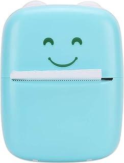 Bicaquu Impresora de Bolsillo Azul, Impresora para Bluetooth, Bluetooth para niños Regalos Niños Estudiante