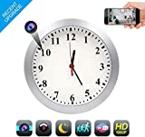 WiFi Spy Camera Clock, CAMAKT1080P Hidden Camera Wireless Security Camera Video Recorder Motion