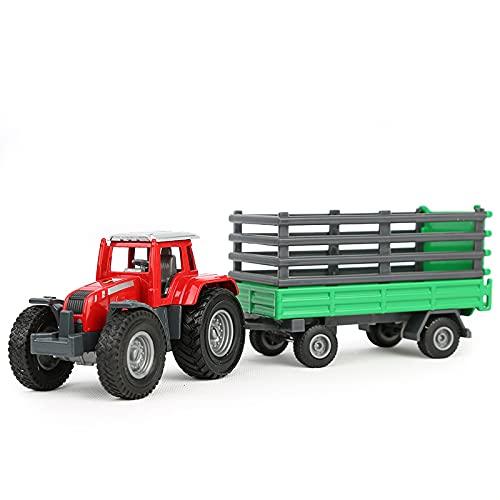 ADISVOT 1:18 Tractor de Transporte de aleación vehículo de ingeniería Modelo de Coche de Juguete para niños camión de Juguetes para niños pequeños Regalo de 9 Pulgadas