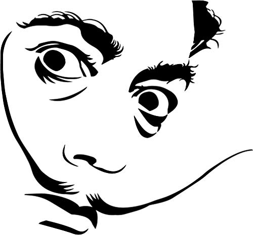 Salvador Dali vinylsticker surrealism drugs klokken tijd laptop auto 8