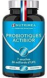 Probiotiques & Prébiotiques 30 Milliards UFC/jour | Formule unique made in France | Efficacité maximale | Améliore la Digestion | 60 gélules végétales gastro-résistantes | Nutrimea