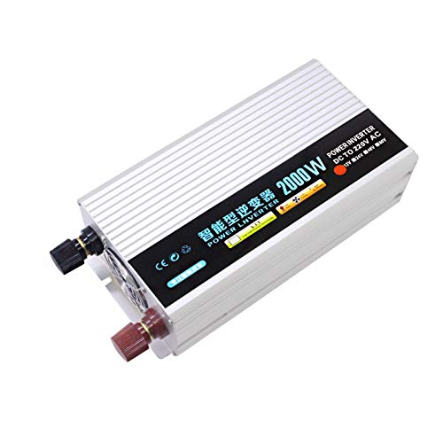 WMNRNYD Car Pure Sine Wave Power Inverter 2000W 3000W 4000W 5000W DC 12V/24V/48V/62V to AC 220V Voltage Converter for Home Travel RV Car Solar System,2000W,62V