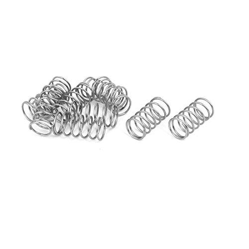 Edelstahlspule verl/ängert Sourcing Map Draht-Durchmesser 0,047 Au/ßendurchmesser 0,31 freie L/änge 4,4 cm 10 St/ück Druckfeder