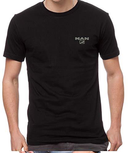 Man LKW Fun Bestickte Logo T-Shirt, super Qualität, 100% Baumwolle - 4126 (XXL)