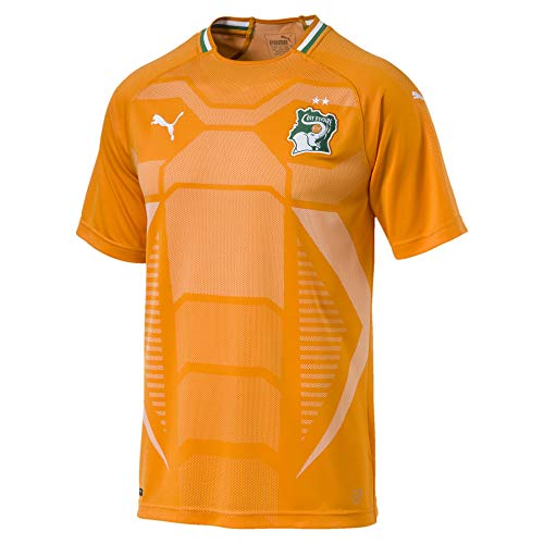 Puma Fif Ivory Camiseta, Hombre Naranja (Flame Orange/Pepper Green), XL