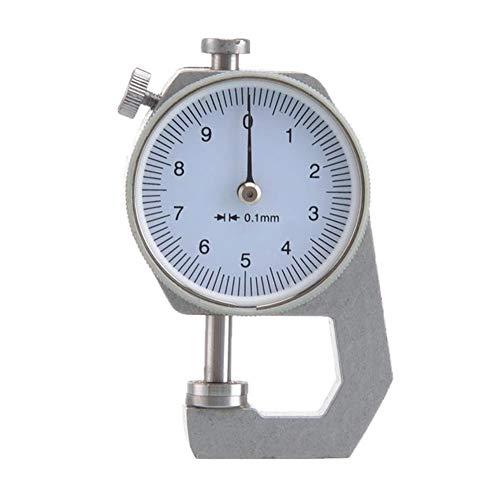 Cicony Medidor de espesor digital, medidor de espesor de esfera redonda 0,01 mm de precisión para papel, cuero, hoja de metal